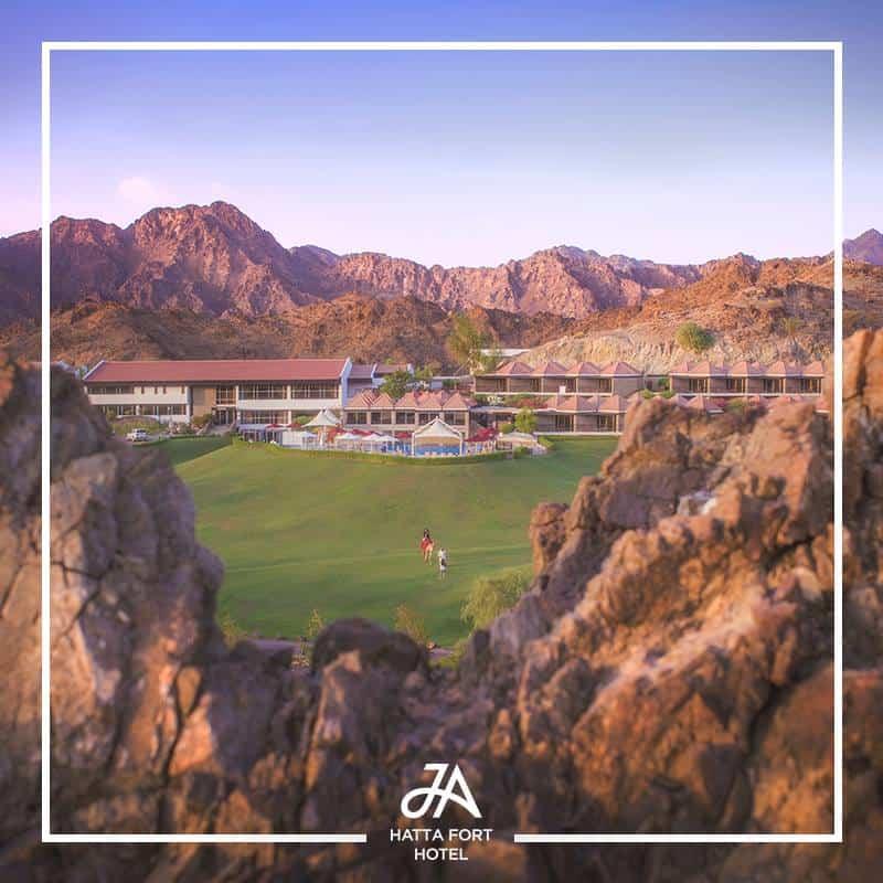 JA Hatta Fort Hotel, the green oasis
