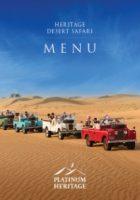 HERITAGE DESERT SAFARI FOOD MENU