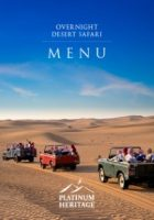 OVERNIGHT DESERT SAFARI FOOD MENU